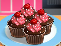 Cupcakes chocolat-framboise